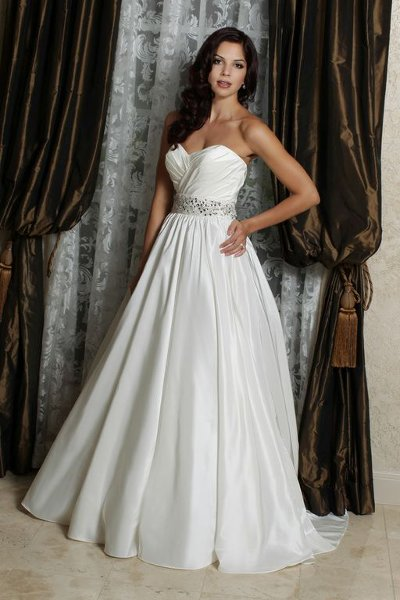 Wedding Dresses, A-line Wedding Dresses, Beach Wedding Dresses, Fashion, Beach, Classic, A-line, Beading, Davinci bridal, Beaded Wedding Dresses, Classic Wedding Dresses