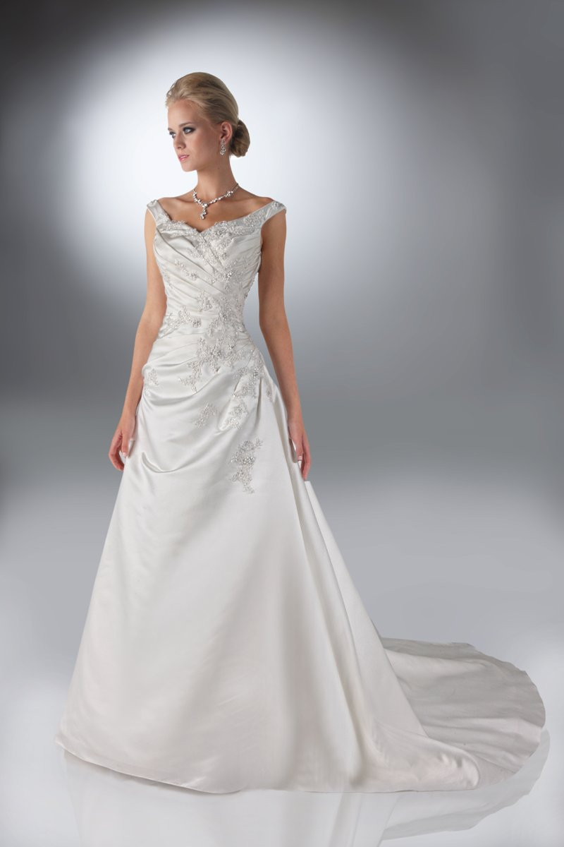 Wedding Dresses, A-line Wedding Dresses, Fashion, A-line, Beading, Davinci bridal, Beaded Wedding Dresses