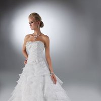 Wedding Dresses, A-line Wedding Dresses, Fashion, A-line, Beading, Davinci bridal, Beaded Wedding Dresses