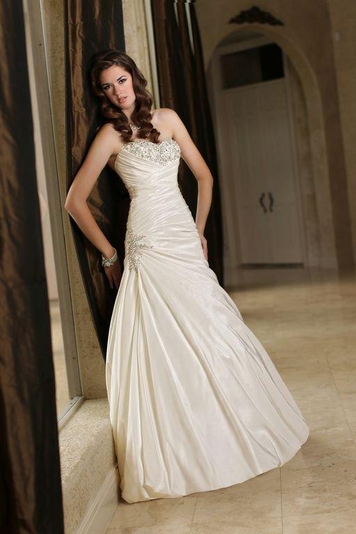 Wedding Dresses, A-line Wedding Dresses, Fashion, Classic, A-line, Beading, Davinci bridal, Beaded Wedding Dresses, Classic Wedding Dresses