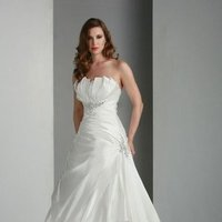 Sweetheart Wedding Dresses, A-line Wedding Dresses, Hollywood Glam Wedding Dresses, Fashion, white, ivory, Classic, Sweetheart, Strapless, Strapless Wedding Dresses, A-line, Beading, Satin, Floor, Wedding dress, Pleats, Davinci bridal, hollywood glam, Beaded Wedding Dresses, Classic Wedding Dresses, satin wedding dresses, Floor Wedding Dresses