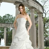 Sweetheart Wedding Dresses, A-line Wedding Dresses, Romantic Wedding Dresses, Hollywood Glam Wedding Dresses, Fashion, white, ivory, Classic, Romantic, Sweetheart, Strapless, Strapless Wedding Dresses, A-line, Beading, Floor, Wedding dress, Taffeta, Pick-ups, Davinci bridal, hollywood glam, Beaded Wedding Dresses, taffeta wedding dresses, Classic Wedding Dresses, Floor Wedding Dresses