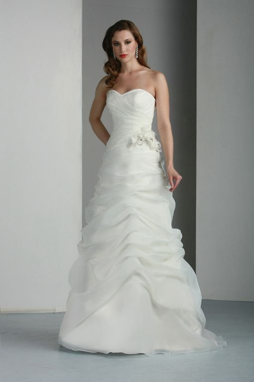 Wedding Dresses, Sweetheart Wedding Dresses, A-line Wedding Dresses, Fashion, white, ivory, Rustic, Modern, Classic, Sweetheart, Strapless, Strapless Wedding Dresses, A-line, Beading, Floor, Organza, Davinci bridal, Modern Wedding Dresses, rustic wedding dresses, Beaded Wedding Dresses, organza wedding dresses, Classic Wedding Dresses, Floor Wedding Dresses