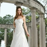 Wedding Dresses, Sweetheart Wedding Dresses, A-line Wedding Dresses, Romantic Wedding Dresses, Beach Wedding Dresses, Fashion, white, ivory, Beach, Classic, Romantic, Sweetheart, Strapless, Strapless Wedding Dresses, A-line, Satin, Floor, Pleats, Davinci bridal, Classic Wedding Dresses, satin wedding dresses, Floor Wedding Dresses