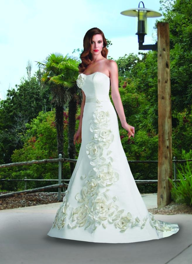 Wedding Dresses, Sweetheart Wedding Dresses, A-line Wedding Dresses, Romantic Wedding Dresses, Fashion, white, ivory, Modern, Flowers, Romantic, Sweetheart, Strapless, Strapless Wedding Dresses, A-line, Beading, Satin, Floor, Formal, Natural, Sleeveless, Davinci bridal, Modern Wedding Dresses, Beaded Wedding Dresses, satin wedding dresses, Flower Wedding Dresses, Formal Wedding Dresses, Floor Wedding Dresses