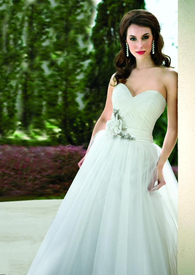 Wedding Dresses, Sweetheart Wedding Dresses, A-line Wedding Dresses, Romantic Wedding Dresses, Fashion, white, ivory, Flowers, Romantic, Sweetheart, Strapless, Strapless Wedding Dresses, A-line, Beading, Tulle, Floor, Formal, Natural, Modest, Sleeveless, Ruching, Davinci bridal, Sash/Belt, Beaded Wedding Dresses, tulle wedding dresses, Flower Wedding Dresses, Formal Wedding Dresses, Floor Wedding Dresses, Modest Wedding Dresses, Sash Wedding Dresses, Belt Wedding Dresses