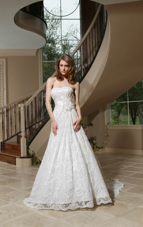 Wedding Dresses, Sweetheart Wedding Dresses, A-line Wedding Dresses, Lace Wedding Dresses, Romantic Wedding Dresses, Fashion, white, ivory, Rustic, Classic, Flowers, Romantic, Lace, Sweetheart, Strapless, Strapless Wedding Dresses, A-line, Floor, Informal, Davinci bridal, rustic wedding dresses, Classic Wedding Dresses, Flower Wedding Dresses, Informal Wedding Dresses, Floor Wedding Dresses