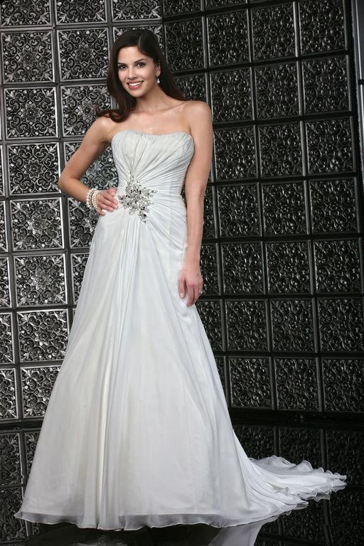 Wedding Dresses, Sweetheart Wedding Dresses, A-line Wedding Dresses, Beach Wedding Dresses, Fashion, white, ivory, Beach, Sweetheart, Strapless, Strapless Wedding Dresses, A-line, Beading, Floor, Chiffon, Informal, Ruching, Davinci bridal, Beaded Wedding Dresses, Chiffon Wedding Dresses, Informal Wedding Dresses, Floor Wedding Dresses