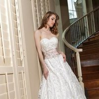 Wedding Dresses, Sweetheart Wedding Dresses, A-line Wedding Dresses, Lace Wedding Dresses, Fashion, white, ivory, Rustic, Lace, Sweetheart, A-line, Beading, Tulle, Satin, Floor, Davinci bridal, Sash/Belt, rustic wedding dresses, Beaded Wedding Dresses, tulle wedding dresses, satin wedding dresses, Floor Wedding Dresses, Sash Wedding Dresses, Belt Wedding Dresses