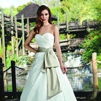 Wedding Dresses, Sweetheart Wedding Dresses, A-line Wedding Dresses, Fashion, white, ivory, gold, Modern, Sweetheart, Strapless, Strapless Wedding Dresses, A-line, Satin, Floor, Formal, Natural, Taffeta, Modest, Sleeveless, Ruching, Davinci bridal, Sash/Belt, Modern Wedding Dresses, taffeta wedding dresses, satin wedding dresses, Formal Wedding Dresses, Floor Wedding Dresses, Modest Wedding Dresses, Sash Wedding Dresses, Belt Wedding Dresses