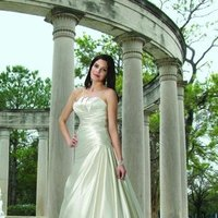 Wedding Dresses, A-line Wedding Dresses, Fashion, white, ivory, Modern, Square, Strapless, Strapless Wedding Dresses, A-line, Satin, Floor, Formal, Dropped, Pleats, Sleeveless, Ruching, Davinci bridal, Modern Wedding Dresses, satin wedding dresses, Square Neckline Wedding Dresses, Formal Wedding Dresses, Floor Wedding Dresses