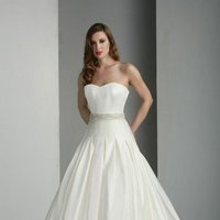 Wedding Dresses, Sweetheart Wedding Dresses, A-line Wedding Dresses, Romantic Wedding Dresses, Fashion, white, ivory, Rustic, Modern, Classic, Romantic, Sweetheart, Strapless, Strapless Wedding Dresses, A-line, Beading, Satin, Floor, Dropped, Pleats, Davinci bridal, Nautical/Preppy, Modern Wedding Dresses, rustic wedding dresses, Beaded Wedding Dresses, Classic Wedding Dresses, satin wedding dresses, Floor Wedding Dresses