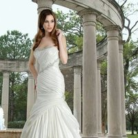 Wedding Dresses, Sweetheart Wedding Dresses, Mermaid Wedding Dresses, Hollywood Glam Wedding Dresses, Fashion, white, ivory, Sweetheart, Strapless, Strapless Wedding Dresses, Beading, Floor, Formal, Taffeta, Pleats, Davinci bridal, Mermaid/Trumpet, Fit-n-Flare, hollywood glam, Beaded Wedding Dresses, taffeta wedding dresses, trumpet wedding dresses, Formal Wedding Dresses, Floor Wedding Dresses
