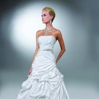 Wedding Dresses, Ball Gown Wedding Dresses, Fashion, white, ivory, Modern, Square, Strapless, Strapless Wedding Dresses, Beading, Satin, Floor, Formal, Natural, Pleats, Pick-ups, Sleeveless, Ruching, Ball gown, Davinci bridal, Sash/Belt, Modern Wedding Dresses, Beaded Wedding Dresses, satin wedding dresses, Square Neckline Wedding Dresses, Formal Wedding Dresses, Floor Wedding Dresses, Sash Wedding Dresses, Belt Wedding Dresses