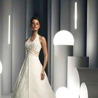 Wedding Dresses, A-line Wedding Dresses, Fashion, white, ivory, Classic, A-line, Halter, Satin, Floor, Pleats, Davinci bridal, halter wedding dresses, Classic Wedding Dresses, satin wedding dresses, Floor Wedding Dresses