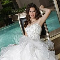 Wedding Dresses, Sweetheart Wedding Dresses, A-line Wedding Dresses, Ruffled Wedding Dresses, Lace Wedding Dresses, Romantic Wedding Dresses, Fashion, white, ivory, Rustic, Modern, Romantic, Lace, Sweetheart, Strapless, Strapless Wedding Dresses, A-line, Beading, Floor, Formal, Organza, Ruffles, Tiers, Davinci bridal, Modern Wedding Dresses, rustic wedding dresses, Beaded Wedding Dresses, organza wedding dresses, Formal Wedding Dresses, Floor Wedding Dresses, Tiered Wedding Dresses