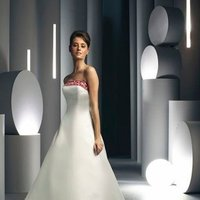 Wedding Dresses, A-line Wedding Dresses, Fashion, white, ivory, red, Classic, Strapless, Strapless Wedding Dresses, A-line, Satin, Floor, Formal, Hip, Davinci bridal, Classic Wedding Dresses, satin wedding dresses, Formal Wedding Dresses, Floor Wedding Dresses, Hip Wedding Dresses