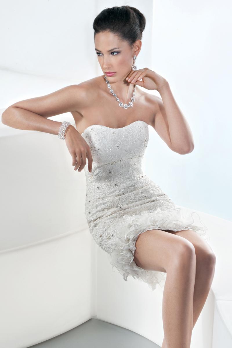 Wedding Dresses, Lace Wedding Dresses, Fashion, Flowers, Lace, Tulle, Demetrios, Beaded, 2 piece, removable skirt, mini gown, tulle wedding dresses, Flower Wedding Dresses