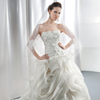 Wedding Dresses, Ball Gown Wedding Dresses, Ruffled Wedding Dresses, Lace Wedding Dresses, Romantic Wedding Dresses, Fashion, Flowers, Romantic, Lace, Strapless, Strapless Wedding Dresses, Demetrios, Organza, Dramatic, Ruffles, Scrolls, Embroidered, Cyrstals, Ball gown, dropped waist, Attached Train, Corset back, organza wedding dresses, Flower Wedding Dresses