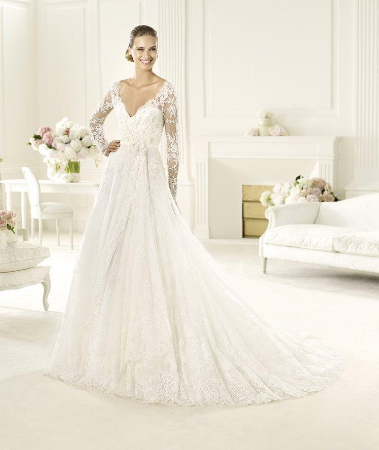 Wedding Dresses, Sweetheart Wedding Dresses, Illusion Neckline Wedding Dresses, A-line Wedding Dresses, Lace Wedding Dresses, Fashion, white, ivory, Classic, Lace, Sweetheart, A-line, Beading, Floor, Formal, Illusion, Modest, Long sleeve, Elie saab, Sash/Belt, Elie Saab Couture, elie saab for pronovias, Beaded Wedding Dresses, Classic Wedding Dresses, Formal Wedding Dresses, Floor Wedding Dresses, Modest Wedding Dresses, Sash Wedding Dresses, Belt Wedding Dresses