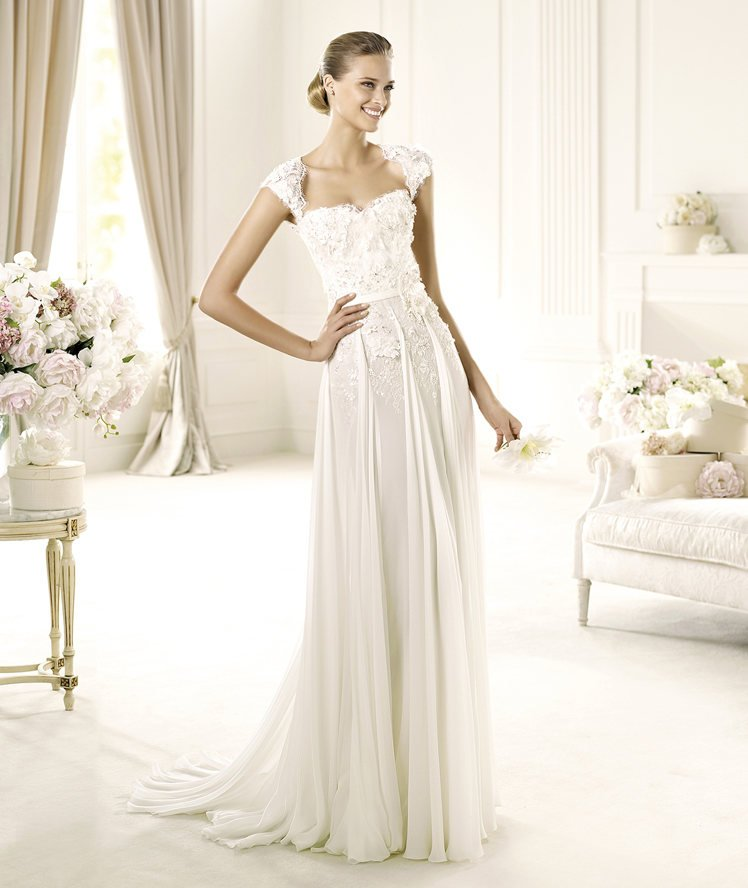 Wedding Dresses, Sweetheart Wedding Dresses, A-line Wedding Dresses, Lace Wedding Dresses, Romantic Wedding Dresses, Fashion, white, ivory, Classic, Flowers, Shabby Chic, Romantic, Lace, Sweetheart, A-line, Beading, Floor, Chiffon, Organza, Elie saab, cap sleeve, Elie Saab Couture, elie saab for pronovias, Beaded Wedding Dresses, organza wedding dresses, Classic Wedding Dresses, Flower Wedding Dresses, Chiffon Wedding Dresses, Floor Wedding Dresses, Shabby Chic Wedding Dresses