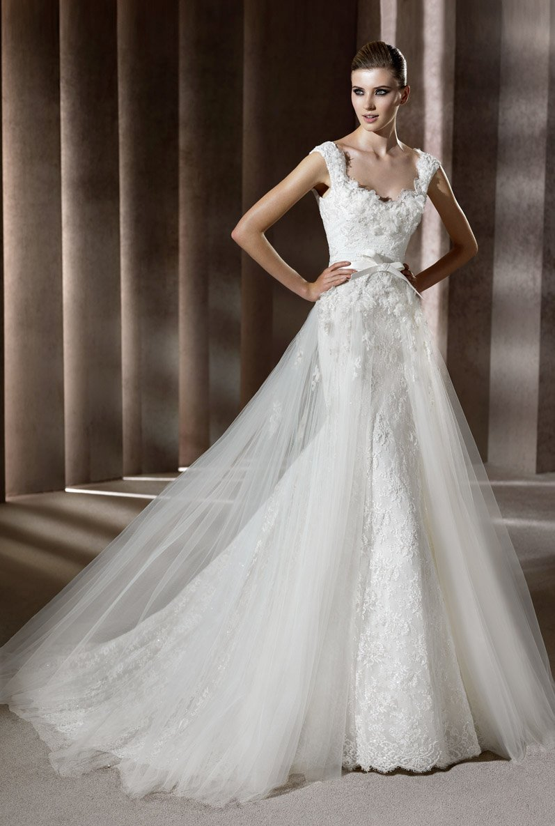 Wedding Dresses, Sweetheart Wedding Dresses, Mermaid Wedding Dresses, Lace Wedding Dresses, Fashion, white, Shabby Chic, Lace, Sweetheart, Spaghetti straps, Beading, Tulle, Floor, Formal, Natural, Modest, Sleeveless, Elie saab, Mermaid/Trumpet, Elie Saab Couture, elie saab for pronovias, Beaded Wedding Dresses, trumpet wedding dresses, tulle wedding dresses, Spahetti Strap Wedding Dresses, Formal Wedding Dresses, Floor Wedding Dresses, Modest Wedding Dresses, Shabby Chic Wedding Dresses