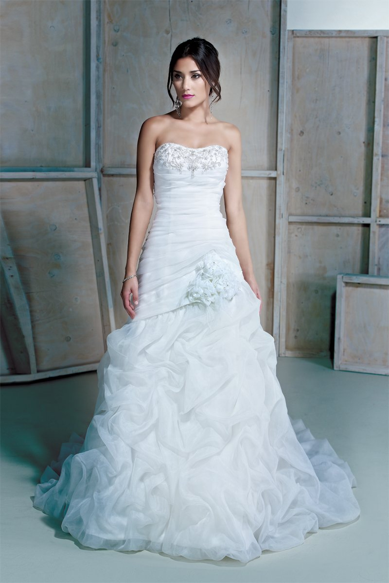 Wedding Dresses, Sweetheart Wedding Dresses, Mermaid Wedding Dresses, Ruffled Wedding Dresses, Romantic Wedding Dresses, Fashion, white, ivory, Shabby Chic, Boho Chic, Romantic, Sweetheart, Strapless, Strapless Wedding Dresses, Beading, Tulle, Floor, Ruffles, Dropped, Pick-ups, Sleeveless, Fit-n-Flare, Ella Rosa, Beaded Wedding Dresses, Boho Chic Wedding Dresses, tulle wedding dresses, Floor Wedding Dresses, Shabby Chic Wedding Dresses