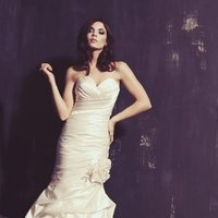 Wedding Dresses, Sweetheart Wedding Dresses, Mermaid Wedding Dresses, Romantic Wedding Dresses, Fashion, white, Classic, Romantic, Sweetheart, Strapless, Strapless Wedding Dresses, Beading, Satin, Floor, Dropped, Sleeveless, Mermaid/Trumpet, Ella Rosa, Beaded Wedding Dresses, trumpet wedding dresses, Classic Wedding Dresses, satin wedding dresses, Floor Wedding Dresses