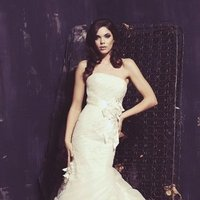 Wedding Dresses, Mermaid Wedding Dresses, Lace Wedding Dresses, Romantic Wedding Dresses, Fashion, ivory, Classic, Romantic, Lace, Strapless, Strapless Wedding Dresses, Beading, Floor, Dropped, Sleeveless, Mermaid/Trumpet, Ella Rosa, Beaded Wedding Dresses, trumpet wedding dresses, Classic Wedding Dresses, Floor Wedding Dresses