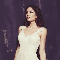 Wedding Dresses, A-line Wedding Dresses, Lace Wedding Dresses, Romantic Wedding Dresses, Fashion, white, ivory, Classic, Romantic, Lace, A-line, Beading, V-neck, V-neck Wedding Dresses, Floor, Natural, Sleeveless, Ella Rosa, Beaded Wedding Dresses, Classic Wedding Dresses, Floor Wedding Dresses