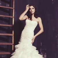 Wedding Dresses, Sweetheart Wedding Dresses, Mermaid Wedding Dresses, Ruffled Wedding Dresses, Lace Wedding Dresses, Romantic Wedding Dresses, Fashion, white, ivory, Classic, Romantic, Lace, Sweetheart, Strapless, Strapless Wedding Dresses, Beading, Floor, Ruffles, Dropped, Sleeveless, Mermaid/Trumpet, Ella Rosa, Beaded Wedding Dresses, trumpet wedding dresses, Classic Wedding Dresses, Floor Wedding Dresses