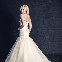 white, ivory, Modern, Classic, Romantic, Lace, Sweetheart, Beading, Floor, Dropped, Sleeveless, Mermaid/Trumpet, Ella Rosa