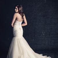 white, ivory, Classic, Romantic, Lace, Sweetheart, Strapless, Beading, Tulle, Floor, Dropped, Sleeveless, Mermaid/Trumpet, Ella Rosa