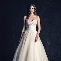 white, ivory, Modern, Classic, Romantic, Sweetheart, Strapless, Beading, Floor, Organza, Natural, Sleeveless, Ball gown, Sash/Belt, Ella Rosa