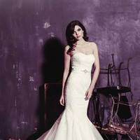 white, ivory, Classic, Romantic, Lace, Strapless, Beading, Floor, Scoop, Dropped, Sleeveless, Mermaid/Trumpet, Sash/Belt, Ella Rosa