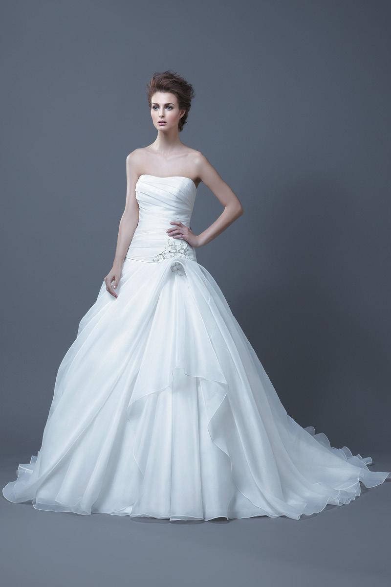 Wedding Dresses, A-line Wedding Dresses, Fashion, Strapless, Strapless Wedding Dresses, A-line, Beading, Enzoani, Beaded Wedding Dresses