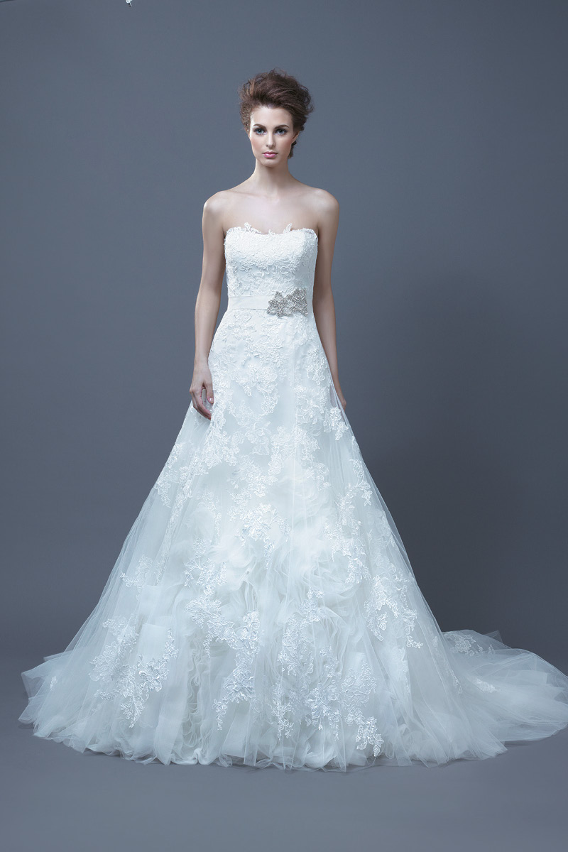 Wedding Dresses, Sweetheart Wedding Dresses, A-line Wedding Dresses, Lace Wedding Dresses, Fashion, Lace, Sweetheart, A-line, Empire, Enzoani, Sleeveless