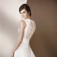 Lace, Fit and flare, Satin, Essense of australia, Keyhole back, crystal beading, pleated skirt