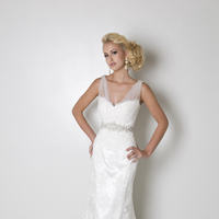 A-line Wedding Dresses, Lace Wedding Dresses, Hollywood Glam Wedding Dresses, Fashion, white, Lace, A-line, V-neck, V-neck Wedding Dresses, Floor, Wedding dress, Eugenia couture, hollywood glam, Floor Wedding Dresses