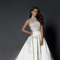 Ball Gown Wedding Dresses, Fashion, white, Strapless, Strapless Wedding Dresses, Beading, Floor, Wedding dress, Eugenia couture, Embellished, Ball gown, Beaded Wedding Dresses, Floor Wedding Dresses