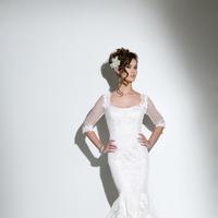 Mermaid Wedding Dresses, Fashion, white, Shabby Chic, Sleeves, Scoop neck, Wedding dress, Eugenia couture, Mermaid/Trumpet, trumpet wedding dresses, Shabby Chic Wedding Dresses