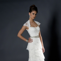 Lace Wedding Dresses, Fashion, white, Lace, Floor, Wedding dress, Eugenia couture, short sleeves, Floor Wedding Dresses