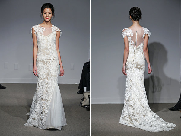 Wedding Dresses, Illusion Neckline Wedding Dresses, Lace Wedding Dresses, Rustic Vineyard Wedding Dresses, Fashion, Wedding Dresses with Sleeves