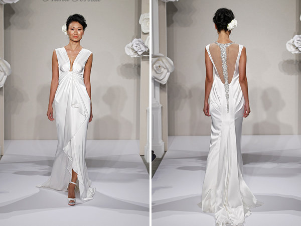 Wedding Dresses, Vintage Wedding Dresses, Hollywood Glam Wedding Dresses, Fashion, V-neck Wedding Dresses