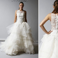 Wedding Dresses, Illusion Neckline Wedding Dresses, Ball Gown Wedding Dresses, Ruffled Wedding Dresses, Lace Wedding Dresses, Fashion