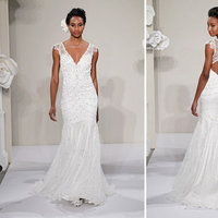 Wedding Dresses, Mermaid Wedding Dresses, Lace Wedding Dresses, Rustic Vineyard Wedding Dresses, Fashion, V-neck Wedding Dresses