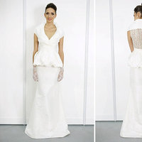 Wedding Dresses, Mother of the Bride Dresses, Fashion, V-neck Wedding Dresses, Wedding Dresses with Sleeves, Peplum Wedding Dresses
