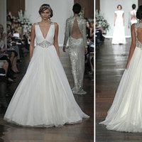 Wedding Dresses, A-line Wedding Dresses, Vintage Wedding Dresses, Hollywood Glam Wedding Dresses, Fashion, V-neck Wedding Dresses