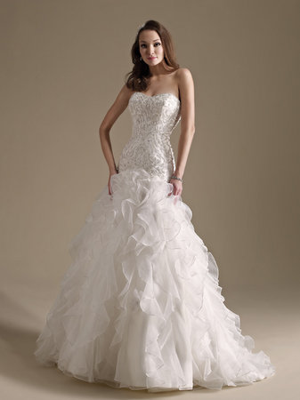 Wedding Dresses, Sweetheart Wedding Dresses, Ruffled Wedding Dresses, Hollywood Glam Wedding Dresses, Fashion, Glam Weddings, Kenneth Winston