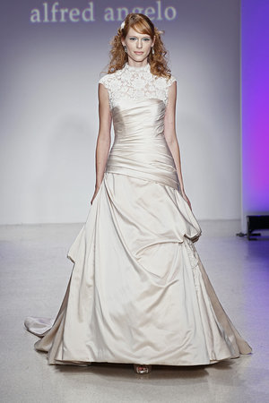 Wedding Dresses, Illusion Neckline Wedding Dresses, Fashion, gold, Alfred angelo